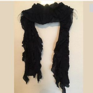 CJ Banks Navy Blue Scarf with Elastic 11x69